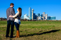 Dallas Skyline Engagement 1 Photo