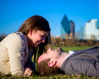 Dallas Skyline Engagement 2 Photo